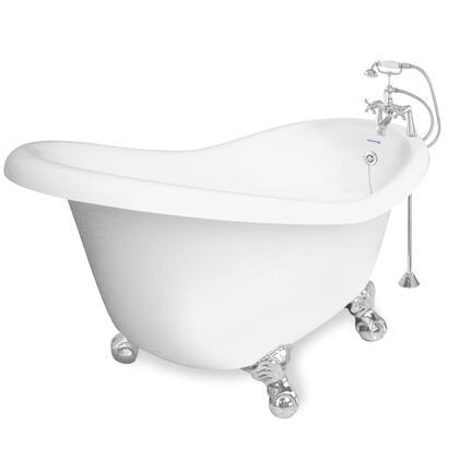 American Bath Factory T020B- Marilyn Bathtub Faucet Package 1, With 90 Series Faucet, Hand Shower & Metal Cross Handles:
