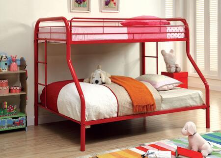 Furniture of America CMBK1033RDBED Rainbow Series  Bed