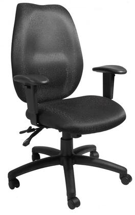"""Boss B1002-SS 39"""" High Back Task Chair with Seat Slider, Adjustable Height Armrests, Hooded Double Wheel Casters, Back Angle Lock and 27"""" Nylon Base"""