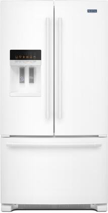 maytag mfi2570few 36 inch white french door refrigerator with 24 7 rh appliancesconnection com Maytag Wide by Side Fridge Maytag Fridge Water Filter