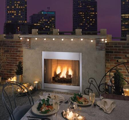 """Monessen ODGR400 36"""" Outdoor Radiant Vent-Free Fireplace in Stainless Steel"""