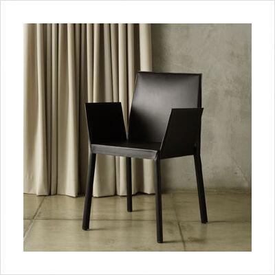 Modloft CDC114C5 Sanctuary Series Modern Leather Metal Frame Dining Room Chair