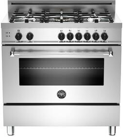Bertazzoni MAS365GASXEdonotuse  Natural Gas Freestanding Range with Sealed Burner Cooktop, 4.4 cu. ft. Primary Oven Capacity, in Stainless Steel
