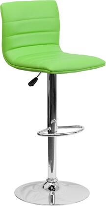 "Flash Furniture 35"" - 44"" Bar Stool with Adjustable Height, Swivel Seat, Chrome Base, Footrest, Horizontal Line Design and Vinyl Upholstery in"