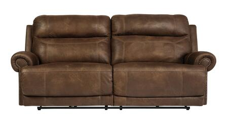 Signature Design by Ashley Austere 3840 Sofa with Plush Rolled Arms, Thick Divided Back Cushions, Jumbo Stitching and Nail-Head Accents in