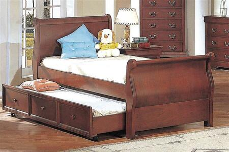 Yuan Tai 4768TWIN Louis Philippe Series  Twin Size Sleigh Bed