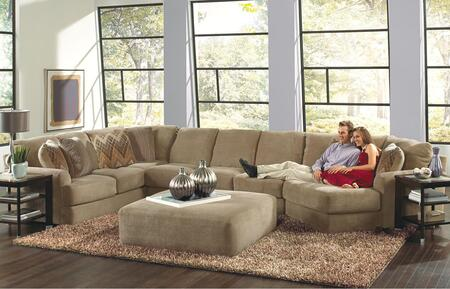 "Jackson Furniture Malibu Collection 3239-62-30-96- 188"" 3-Piece Sectional with Left Arm Facing Section with Corner, Armless Sofa and Right Arm Facing Piano Wedge in"