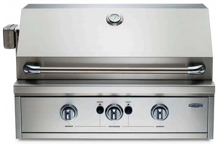 Capital PRO26RBIL Built In Liquid Propane Grill with 3 |Appliances Connection