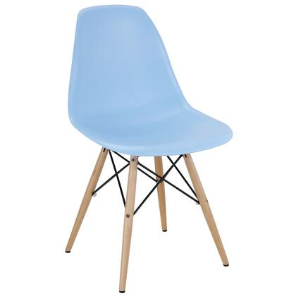 Modway EEI180LBU Pyramid Series Modern Not Upholstered Wood Frame Dining Room Chair