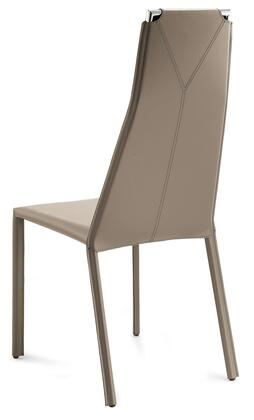 Domitalia CLIFFS0K0CR Cliff Dining Room Chair with Chrome Steel Frame and Regenerated Leather Cover in