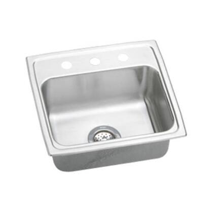 """Elkay LR19180 19"""" Top Mount 18-Gauge Single Bowl Self-Rim Stainless Steel Sink"""