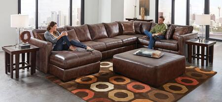 """Jackson Furniture Tucker Collection 4395-75-30-59-42- 166"""" 4-Piece Sectional with Left Arm Facing Chaise, Armless Sofa, Corner and Right Arm Facing Loveseat in"""