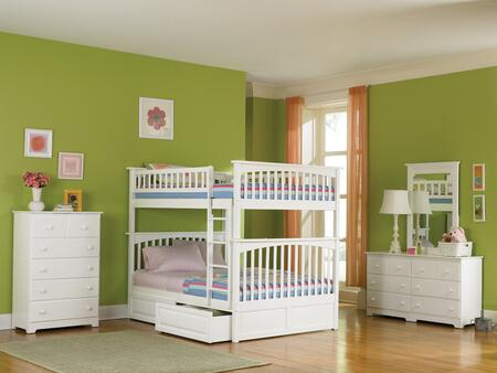Atlantic Furniture COLFFWH  Full size Bed
