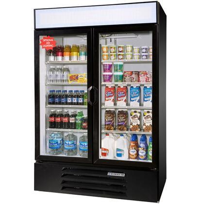 "Beverage-Air LV49-1 LumaVue 52"" Two Section Refrigerated Glass Door Merchandiser with LED Lighting, 49 cu.ft. Capacity, [Color] Exterior and Bottom Mounted Compressor"