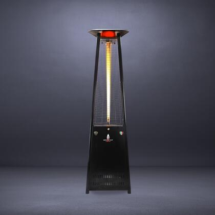 Lava Heat LHI Partially Assembled Liquid Propane Triangular 8 ft. Tall Commercial Flame Patio Heater with 56,000 BTU Power Rating, 5 Foot Heat Radius and Safety Tilt Switch