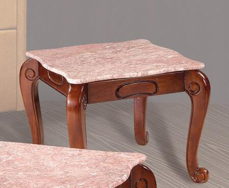 Meridian 232PE 232 Series Traditional Wood Square None Drawers End Table