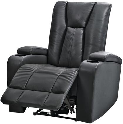 "Glory Furniture G650 Collection 35"" Power Recliner with Cup Holders, Storage in Arms and Top Grade Faux Leather Upholstery in"