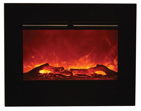 Amantii ZECL-FLUSHMT Zero Clearance Electric Fireplace with 4 Stage Internal Back Lighting, LED Light Technology, Hard Wire Ready and No Grills in Black Glass Surround