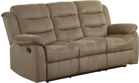 Coaster 601884 Rodman Series Reclining Velvet Sofa