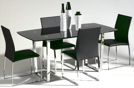 Chintaly MARCYDTBLKSET Marcy Dining Room Sets