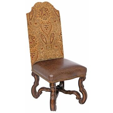 Ambella 08946610001 Armless Fabric Wood Frame Accent Chair
