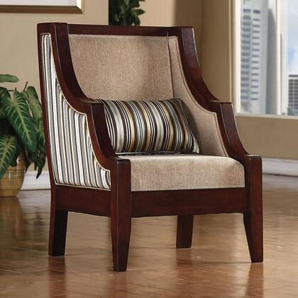 Coaster 900323 Accent Seating Series Fabric Wood Frame Accent Chair