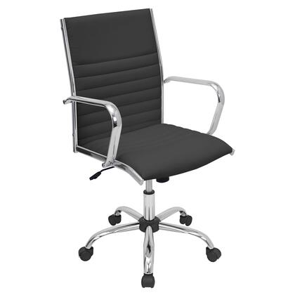 "LumiSource Master OFC-AC-MSTR 38"" - 41"" Office Chair with 360-Degree Swivel, Leatherette Upholstery and Adjustable Height in"