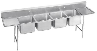 Four Compartment, Right and Left Drainboard