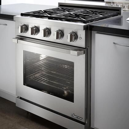 """Dacor RNRP30GCNGH 30"""" Renaissance Series Slide-in Gas Range with Sealed Burner Cooktop, 5.2 cu.ft. Primary Oven Capacity, in Custom Colors"""