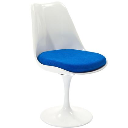 Modway EEI115BLU Lippa Series Modern Fabric Plastic Frame Dining Room Chair