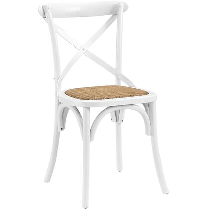 """Modway Gear Collection 18"""" Side Chair with Open Wooden Backrest and Tapered Legs"""