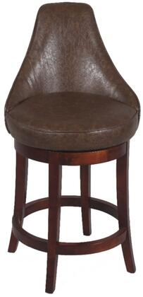 Chintaly 0290BS Residential Bonded Leather Upholstered Bar Stool