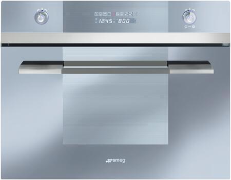 "Smeg SCU45xCS1 24"" Linea Series Single Wall Oven with"