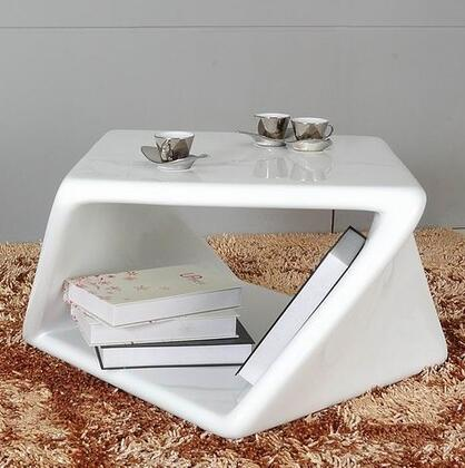 VIG Furniture VGGUTG1151ET Modrest Series Modern Fiberglass Square None Drawers End Table