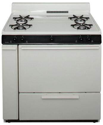 """Premier BLK100 ADA Compliant  36"""" Cordless Battery Spark Gas Range with 3.9 Cu. Ft. Capacity, Four Cooktop Burners, 4"""" Porcelain, Lift Up Top and 17,000 BTU Oven Burner For Natural or L.P. Gas"""