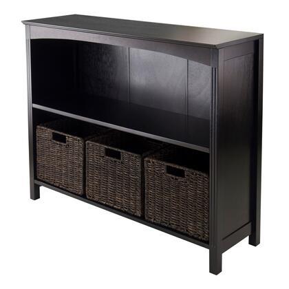 Winsome 92XX3 Terrace 37 inch Wide Storage Shelf 3-Tier in Espresso Finish