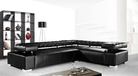 VIG Furniture VG2T0597 Disco Series Sofa and Chaise Leather Sofa