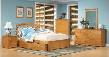 Atlantic Furniture WINFPAWFL Windsor Series  Bed