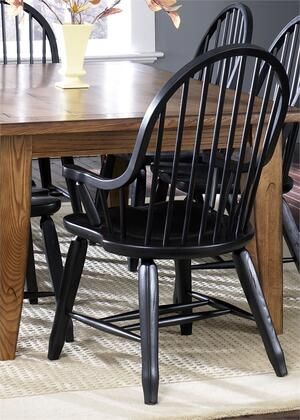 """Liberty Furniture Treasures Collection 17-CX051 41"""" Arm Chair with Bow Back, Stretchers and Nylon Chair Glides in"""