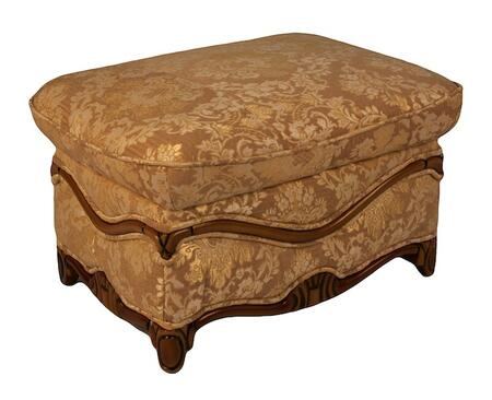 J. Horn C048702BR Traditional Fabric Ottoman