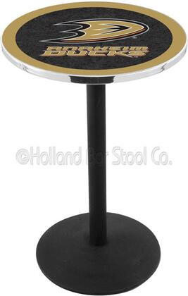 "Holland Bar Stool L214B36 36"" Black Wrinkle Pub Table with Round Base"