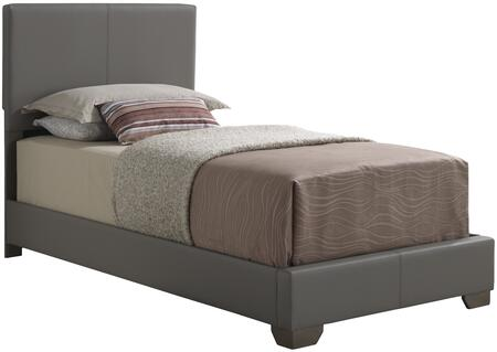 Glory Furniture Twin Size Panel Bed with Wood Construction and Faux Leather Upholstery in