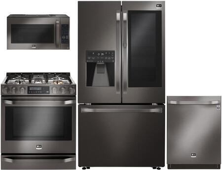 LG Studio 711516 Black Stainless Steel Kitchen Appliance Pac