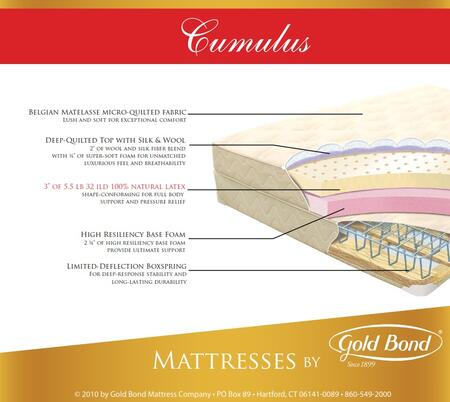 Gold Bond 866CUMULUST Natural Latex Series Twin Size Standard Mattress