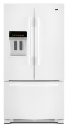 "Maytag MFI2670XEW Freestanding French Door 25.5 cu. ft. No 36"" 35.63"" French Door Refrigerator 