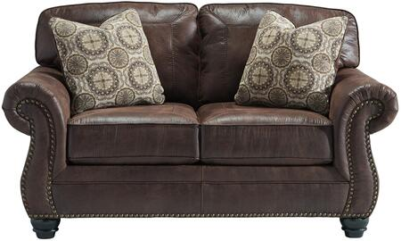 Flash Furniture FBC8009LSESPGG Breville Series Faux Leather Stationary with Wood Frame Loveseat