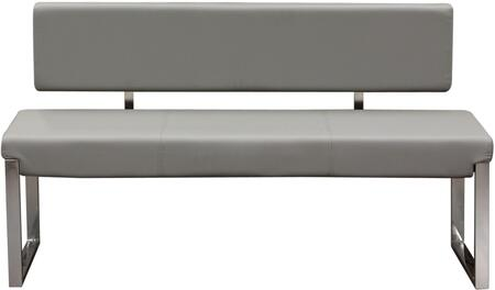 Diamond Sofa KNOXBBEGR Knox Series Accent Armless Metal Bench