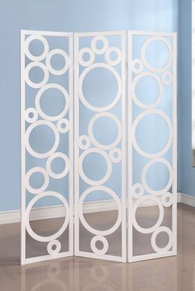 Acme Furniture 9802 Trudy 3-Panel Wooden Screen with Hollow-Out Circles in