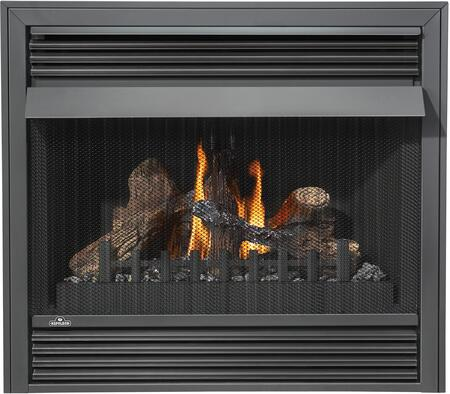 Napoleon GVF36-2 30,000 BTU Vent Free Fireplace With Safety Pull Screen, Realistic PHAZER Logs, Oxygen Depletion Sensor & 99.9% Steady State High Efficiency