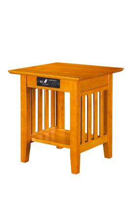 Atlantic Furniture AH1421 Mission End Table with Charger